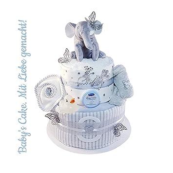 New Mini Nappy Cake Newborn Baby Girl Or Boy Gift Christening Baby Shower Unisex