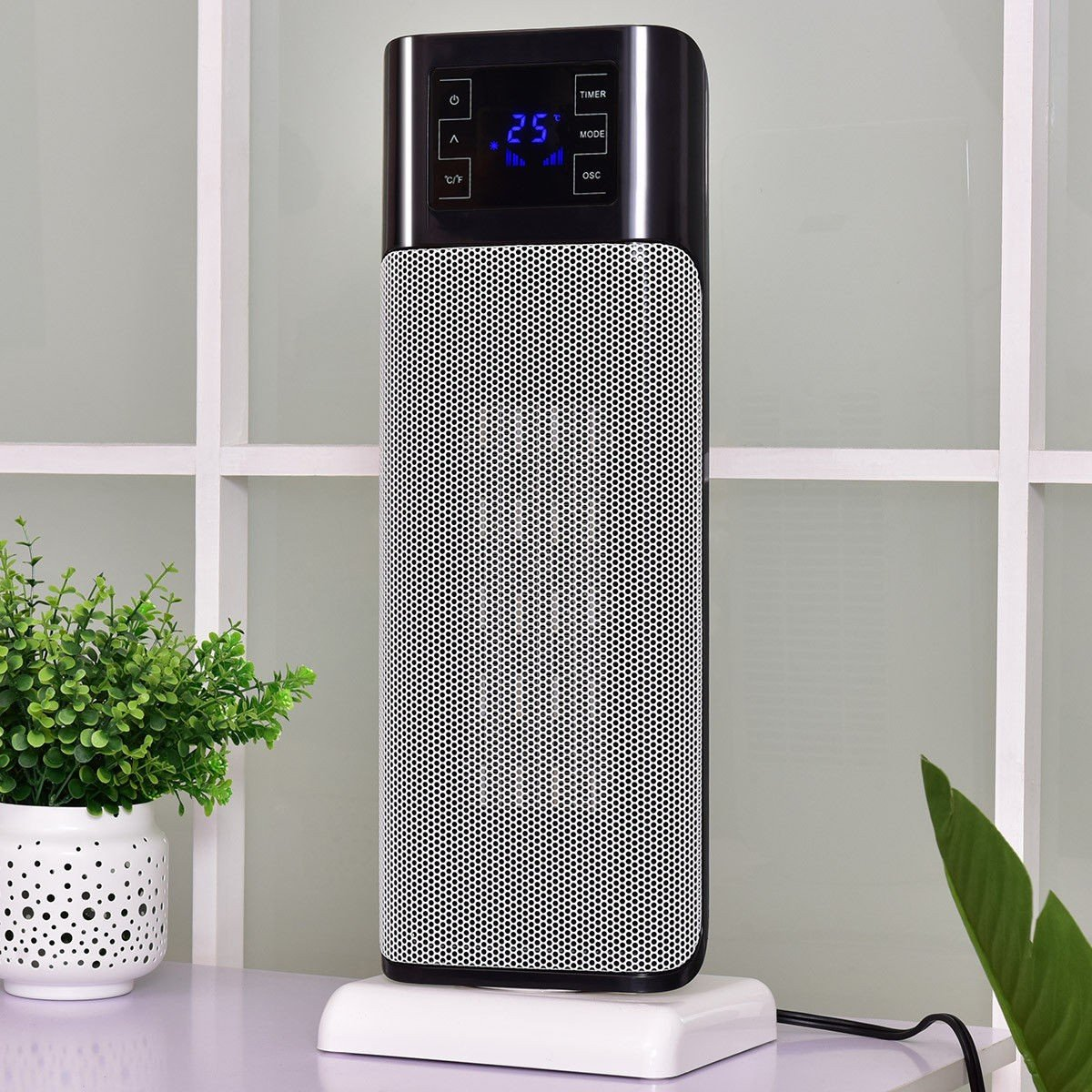 1500W Oscillating Timer Space Heater with Remote Control