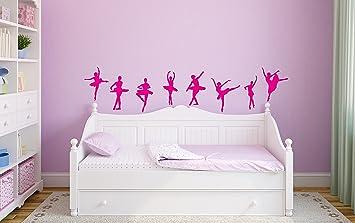Amazoncom  Ballet Dancer Ballerina Wall Stickers Decals Ballet - Nursery wall decals girl