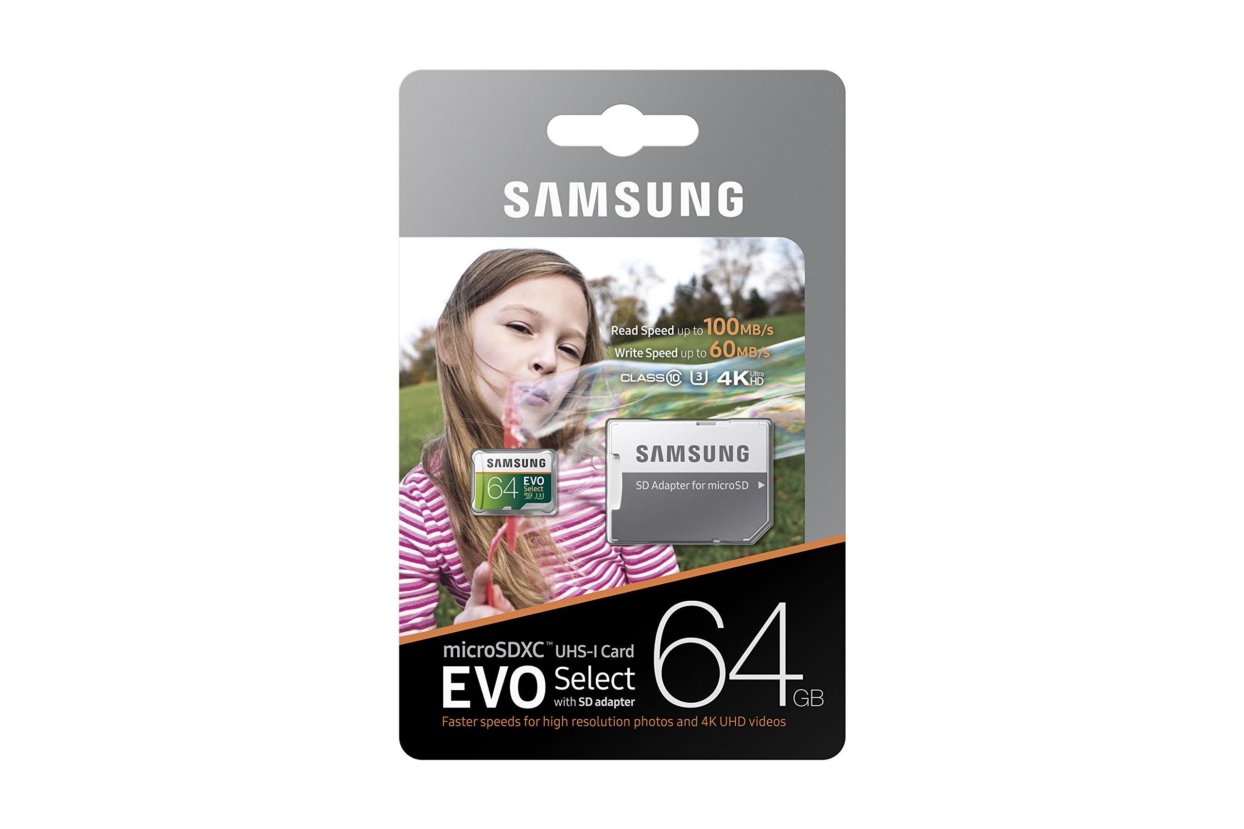 Samsung 64GB 100MB/s (U3) MicroSDXC EVO Select Memory Card with Adapter (MB-ME64GA/AM) by Samsung (Image #6)