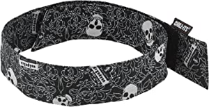 Cooling Bandana, Skulls, Evaporative Polymer Crystals for Cooling Relief, Quick and Secure Fit, Ergodyne Chill Its 6705
