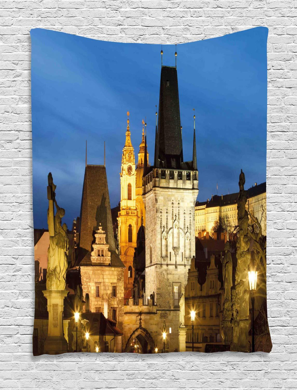 ABAKUHAUS Europeo Tapiz de Pared, Edificio Torre De Praga, para el ...