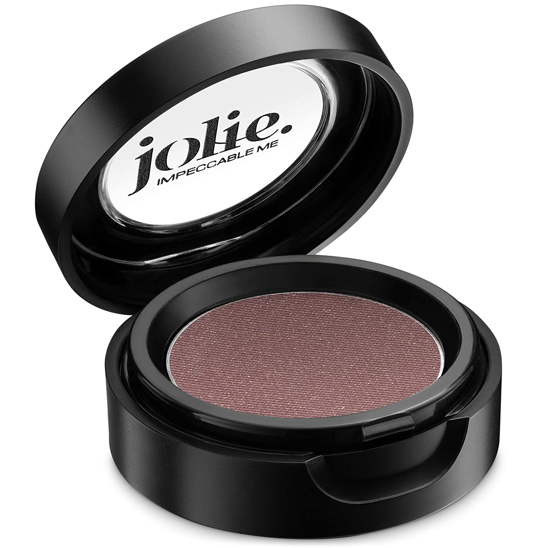 Jolie Cosmetics Powder Pressed Pearl Shimmer Eyeshadows – Cruelty Free, Vegan, Single Pan Eyeshadow 1.48g Warm Neutrals (Spiked Punch)