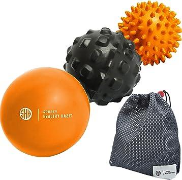 Pelotas de masaje de tejido profundo: masaje de bola de lacrosse + ...
