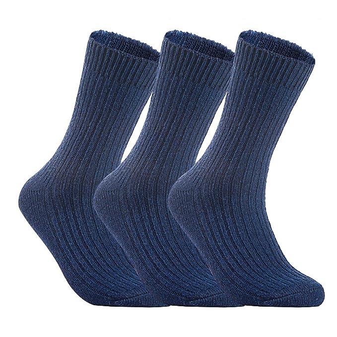 Lian estilo de vida de hombre 3 pares calcetines de lana Tejido de punto Un tamaño 8 - 11: Amazon.es: Ropa y accesorios