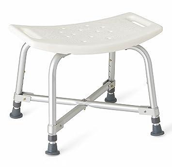 Amazon.com: Medline Bariatric Bath Bench without Back: Health ...
