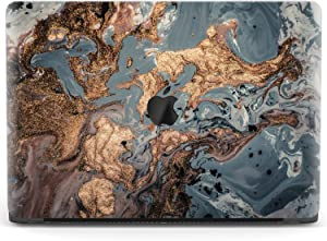 Mertak Hard Case for Apple MacBook Pro 16 Air 13 inch Mac 15 Retina 12 11 2020 2019 2018 2017 Protective Painting Black Bronze Laptop Luxury Art Design Touch Bar Gold Oil Abstract Plastic Clear
