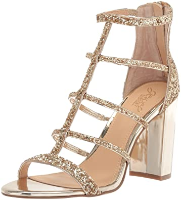 Badgley Mischka Jewel Womens Tiffy Heeled Sandal, Gold, 6 Medium US