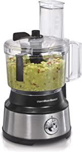 Hamilton Beach Food Processor & Vegetable Chopper for Slicing Shredding, Mincing, and Puree, 10-Cup Capacity, Stainless Steel