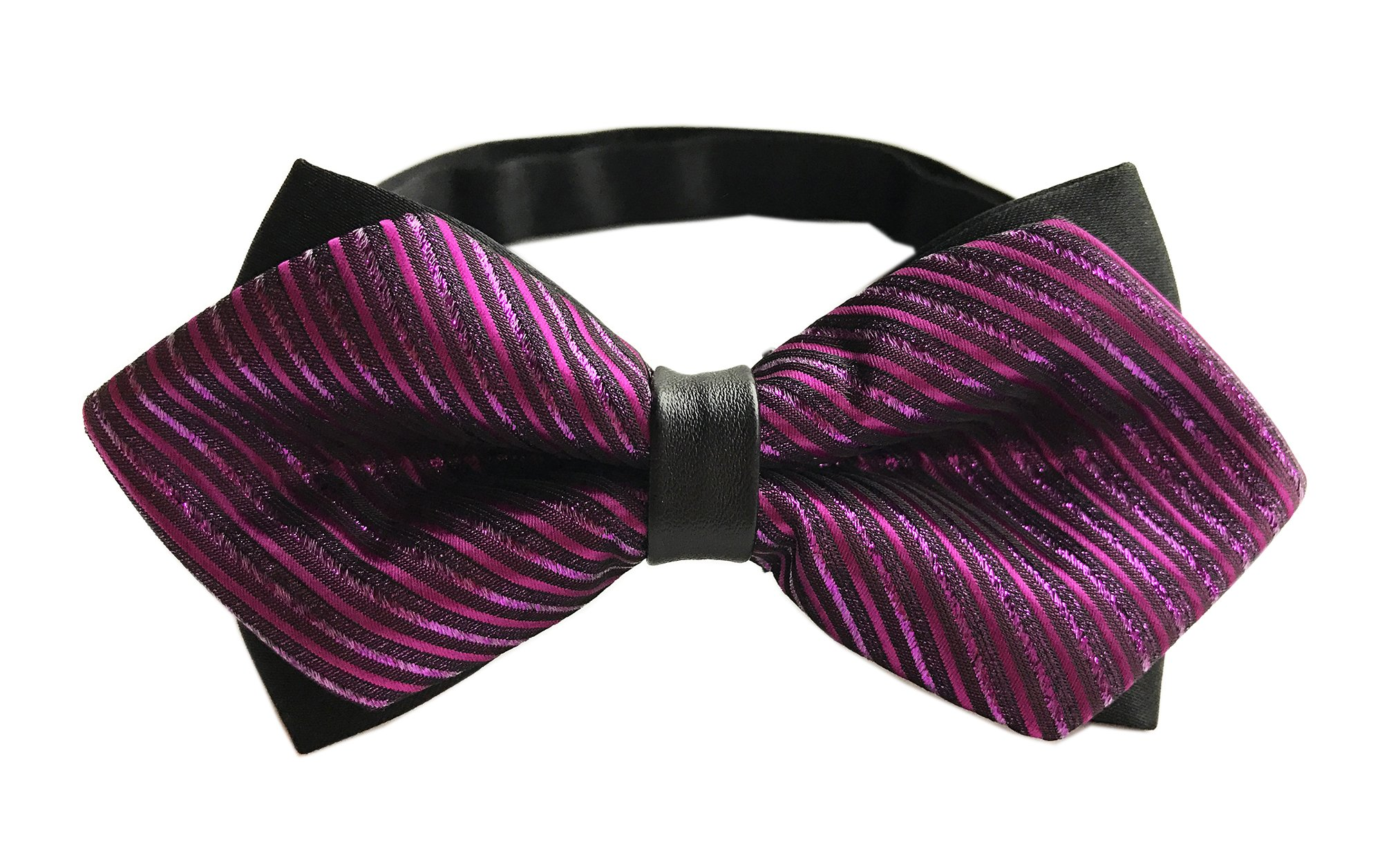 Men's Rose Pink for Valentine Wedding Party and Other Occasions Classic Bow Ties