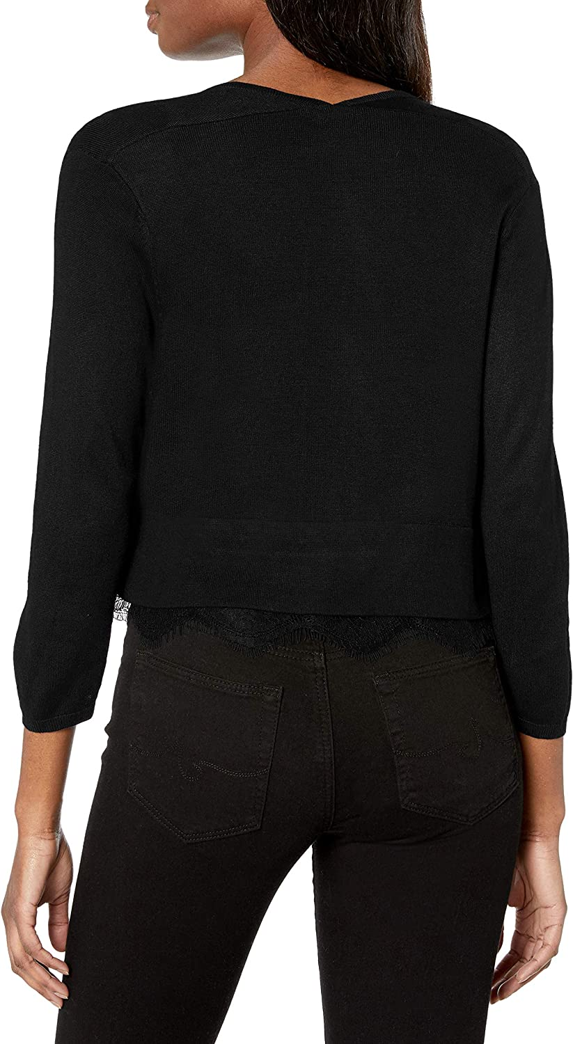 Tommy Hilfiger Womens Shrug with Lace Hem