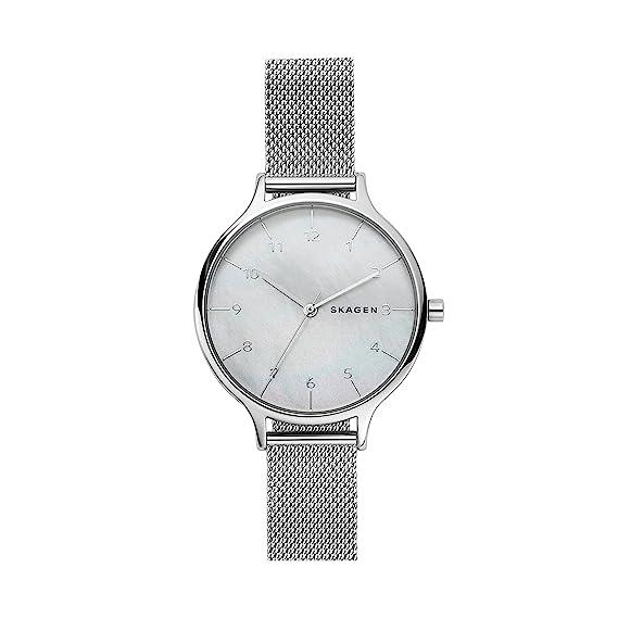 Skagen Reloj Analogico para Mujer de Cuarzo con Correa en Acero Inoxidable SKW2701: Amazon.es: Relojes