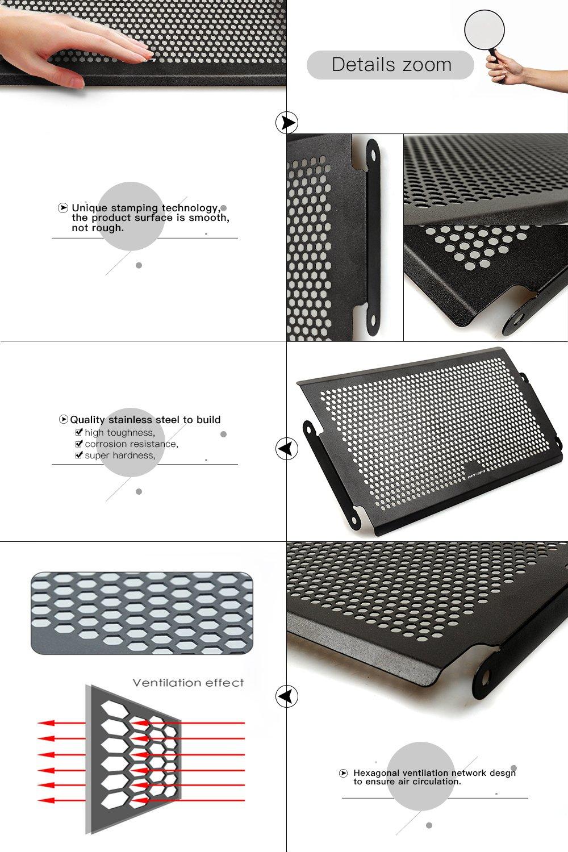 MT07 Rejillas frontales de radiador Guarda protectora Radiator Guard para Yamaha mt-07 MT 07 2013 2014 2015 2016 2017: Amazon.es: Coche y moto