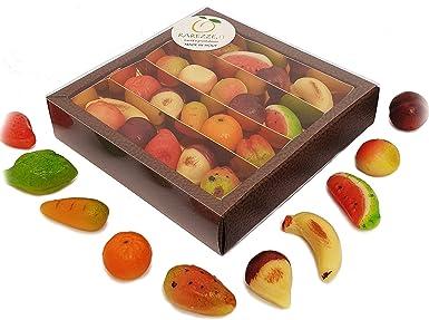 Fruta de pasta de almendra o mazápan, en estuche regalo (gr.260 ...