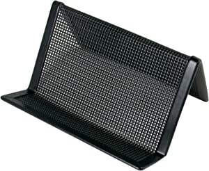Artistic ART21001C Contemporary Mesh Metal Business Card and Accessory Holder, Black (ART21001C)