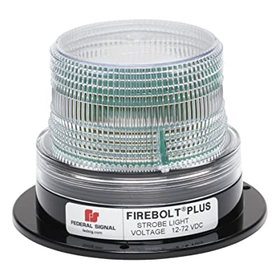 "Federal Signal 220200-05 Firebolt Plus Clear 3.61\"" Strobe Beacon (Perm Mt.): Automotive [5Bkhe1512725]"