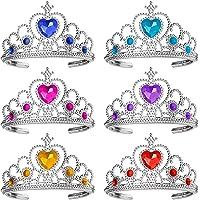 Ouinne 6 stycken prinsessa Tiara Crown, Dress Up Tiaras Crown Set flickor klä festtillbehör