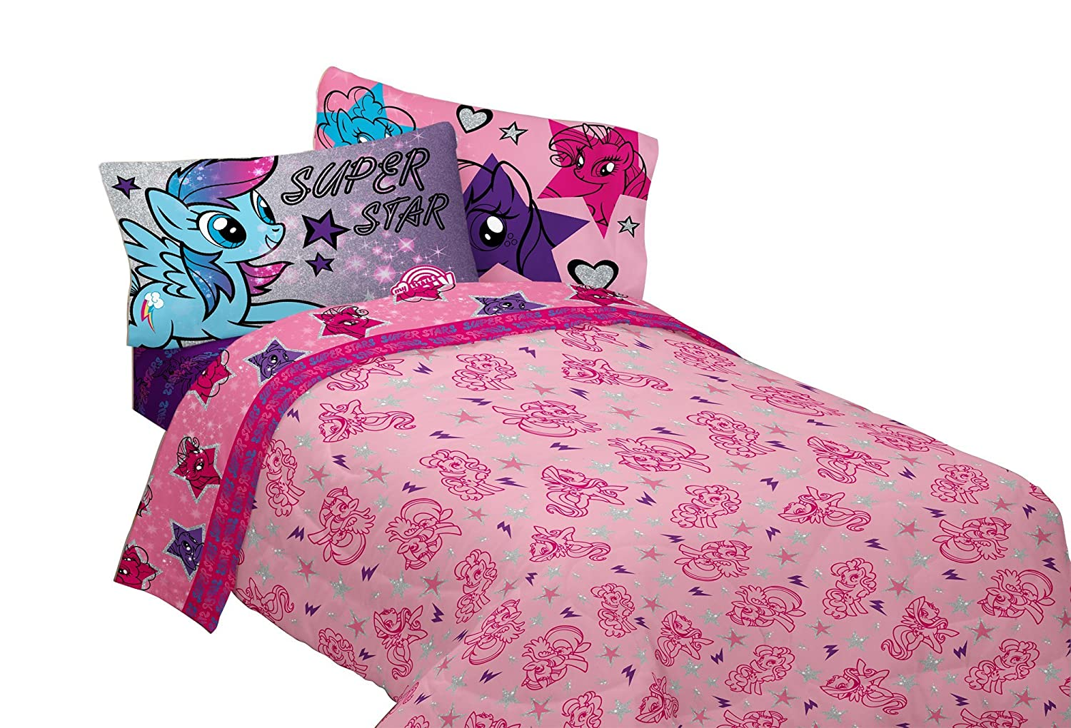 Hasbro My Little Pony Living The Dream Twin Sheet Set My