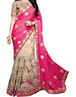 Maiya Saree Georgette saree Embrodered blouse Women's Clothing Saree Collection in Multi-Coloured Material For Women Party Wear,Wedding,Casual sarees Offer Latest Design Wear Sarees With Blouse Piece