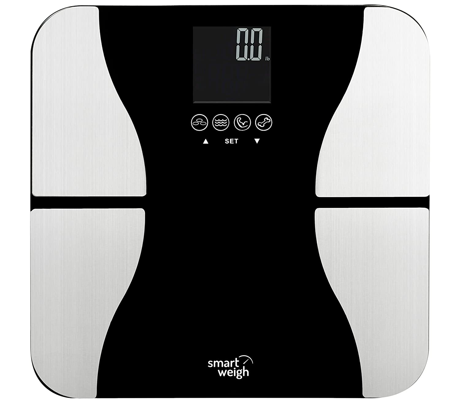 Best bathroom weight scales - Smart Weigh Body Fat Digital Precision Scale With Tempered Glass Platform Eight User Recognition