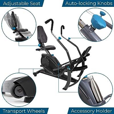 Adjustable Seat from Teeter FreeStep Recumbent Cross Trainer