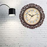 Efinito Gifts Plastic Silent Non Ticking Movement Designer Antique Look Wall Clock with Glass for Home (Colour May Vary, 17 inch)