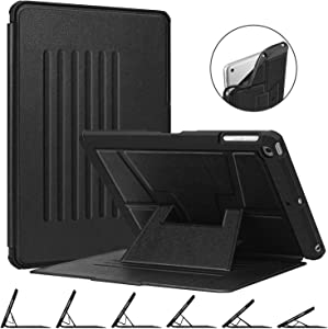 Fintie Magnetic Stand Case for iPad 9.7 2018 2017 / iPad Air 2 / iPad Air, [Multiple Secure Angles] Shockproof Rugged Soft TPU Back Cover with Auto Wake/Sleep, Black