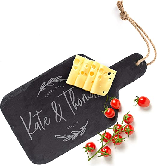 Personalised Christmas Gift for Couple Family Xmas Decoration Slate Cheese Board