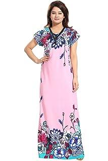 834d870d6ff TUCUTE Women s Sarina Night Gown Nightwear Nighty Nightdress with Floral  Print Border