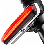 Rear Bike Light FOX SPORTIVE - USB Rechargeable Red LED Bicycle Tail Light, Amazingly Bright 100 lm, 6 Modes, Waterproof, 180-degree For Cycling Safety Flashlight, Easy Install on Bicycles, Helmets