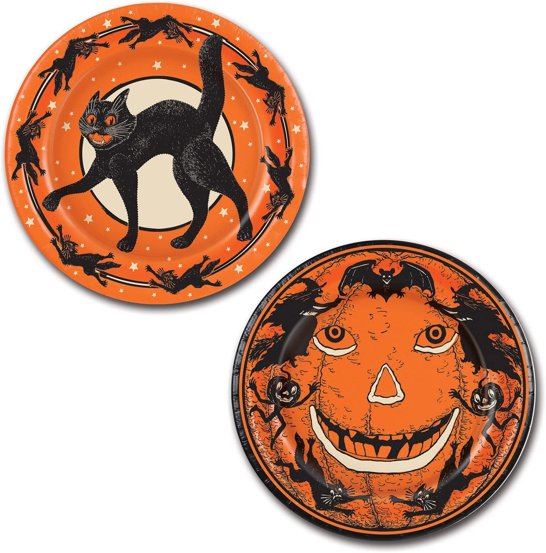 Halloween Cat Paper Plates