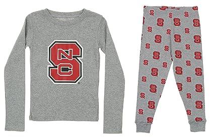 02da4edab7c1 Outerstuff NCAA Little and Big Boy's Long Sleeve Tee and Pant Sleep Set,  North Carolina