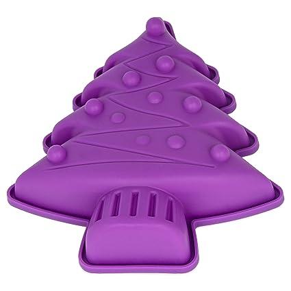 Molde de silicona para pastel con forma de árbol de Navidad, Árbol de Navidad,