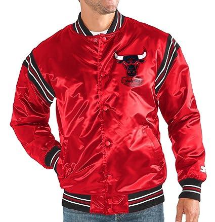 50266caf957 Image Unavailable. Image not available for. Color  STARTER Chicago Bulls  NBA Men s The Enforcer HWC Logo Premium Satin Jacket