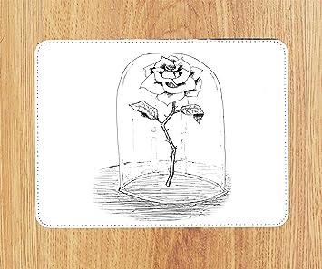 Beauty The Beast Rose Zeichnen Art Pu Faux Leder Amazonde