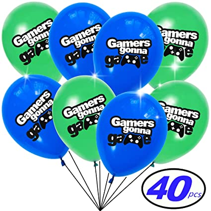Amazon Com Balloons With Video Game Themed Design Best Decoration