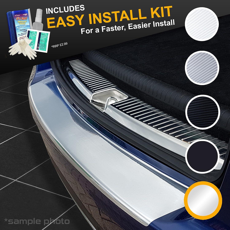 Easy Install Kit Included carmats4u Black Carbon Vinyl Bumper Lip Protector//Self Adhesive