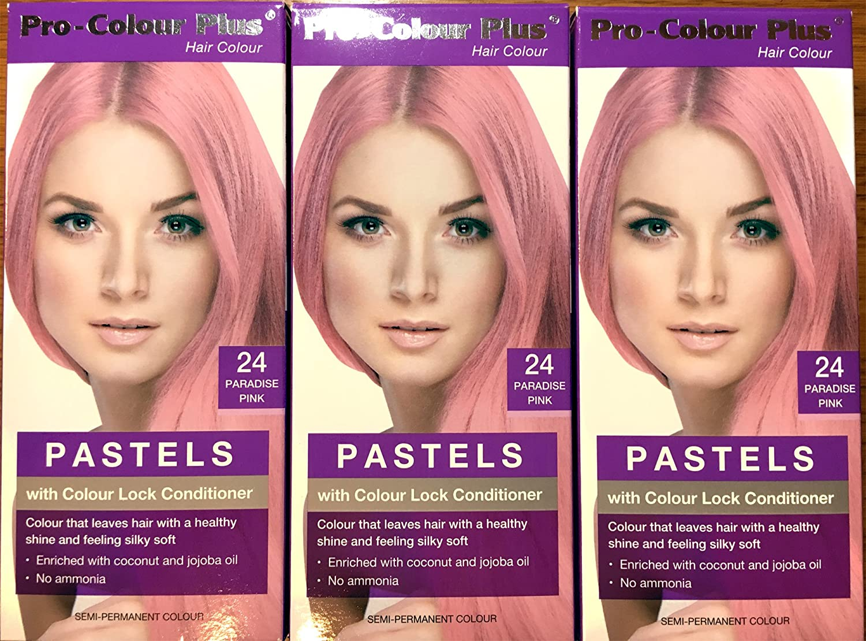 Pastel – Paraíso rosa – pro-colour Plus color del pelo – Semi Permanente x 2