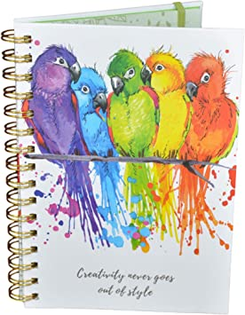 Write Well A5 Parrot Hardback Notebook Edit Often Spiral Notebook Your Life is Your Story