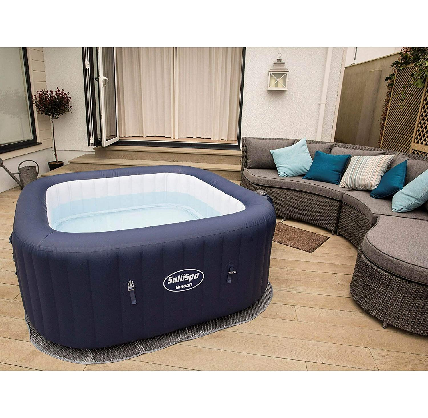 Amazon.com: Bestway 54155E Hawaii Air Jet - Spa hinchable ...