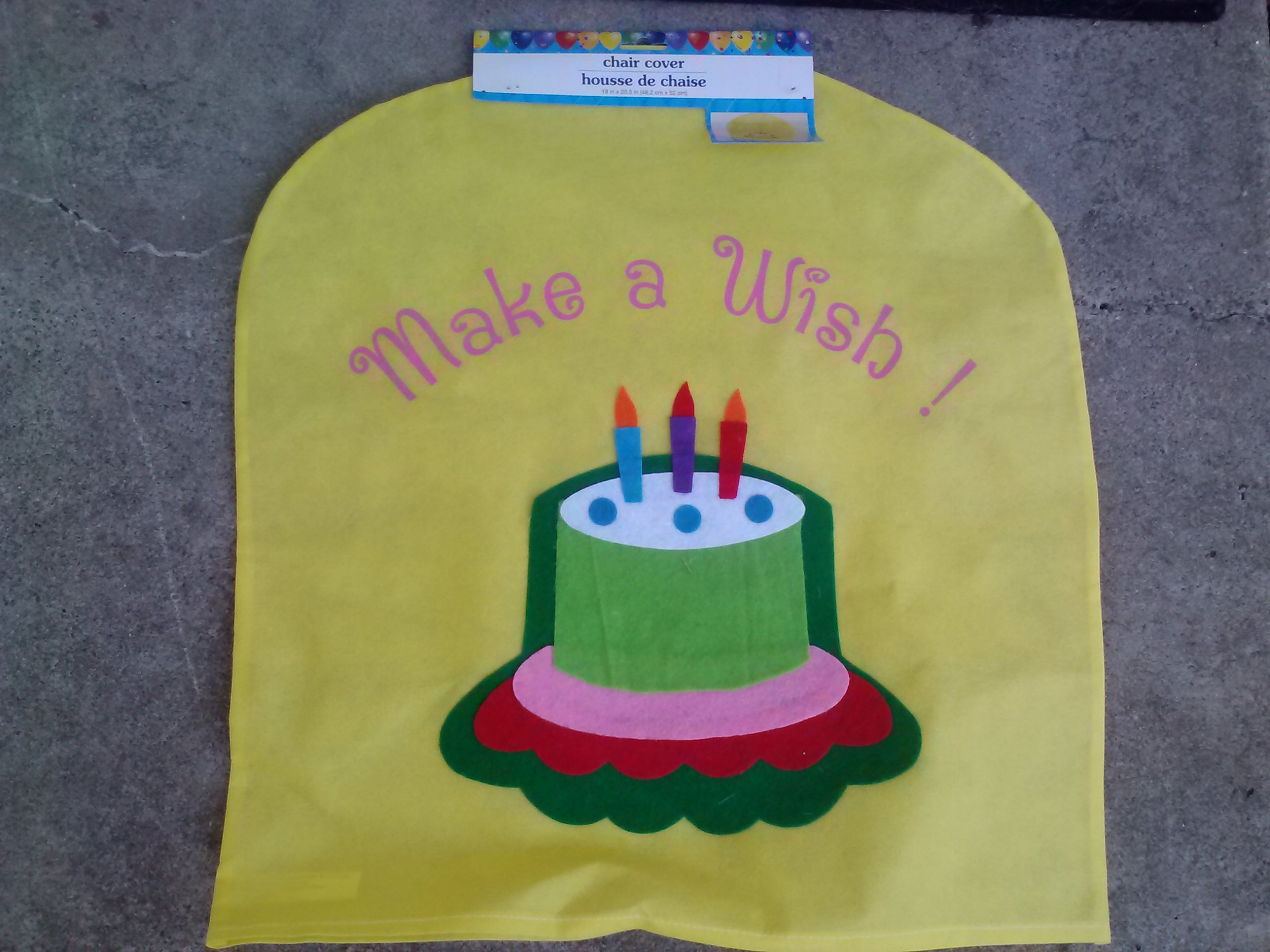 Children's Birthday Chair Cover (Assorted, Designs & Quantities Vary)