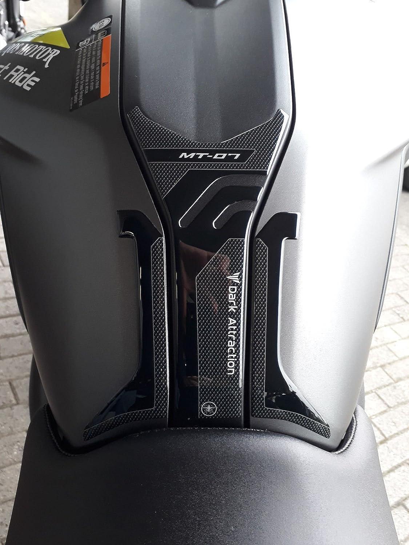 Sticker Tank Resin Gel 3d for Yamaha Bike Mt-07 from 2018