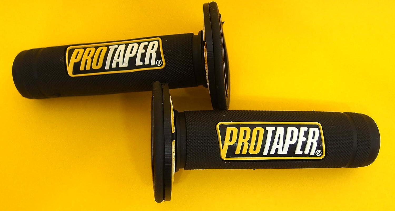 Poignées de guidon Pro Taper jaunes - Diamètre 22mm - MX Suzuki