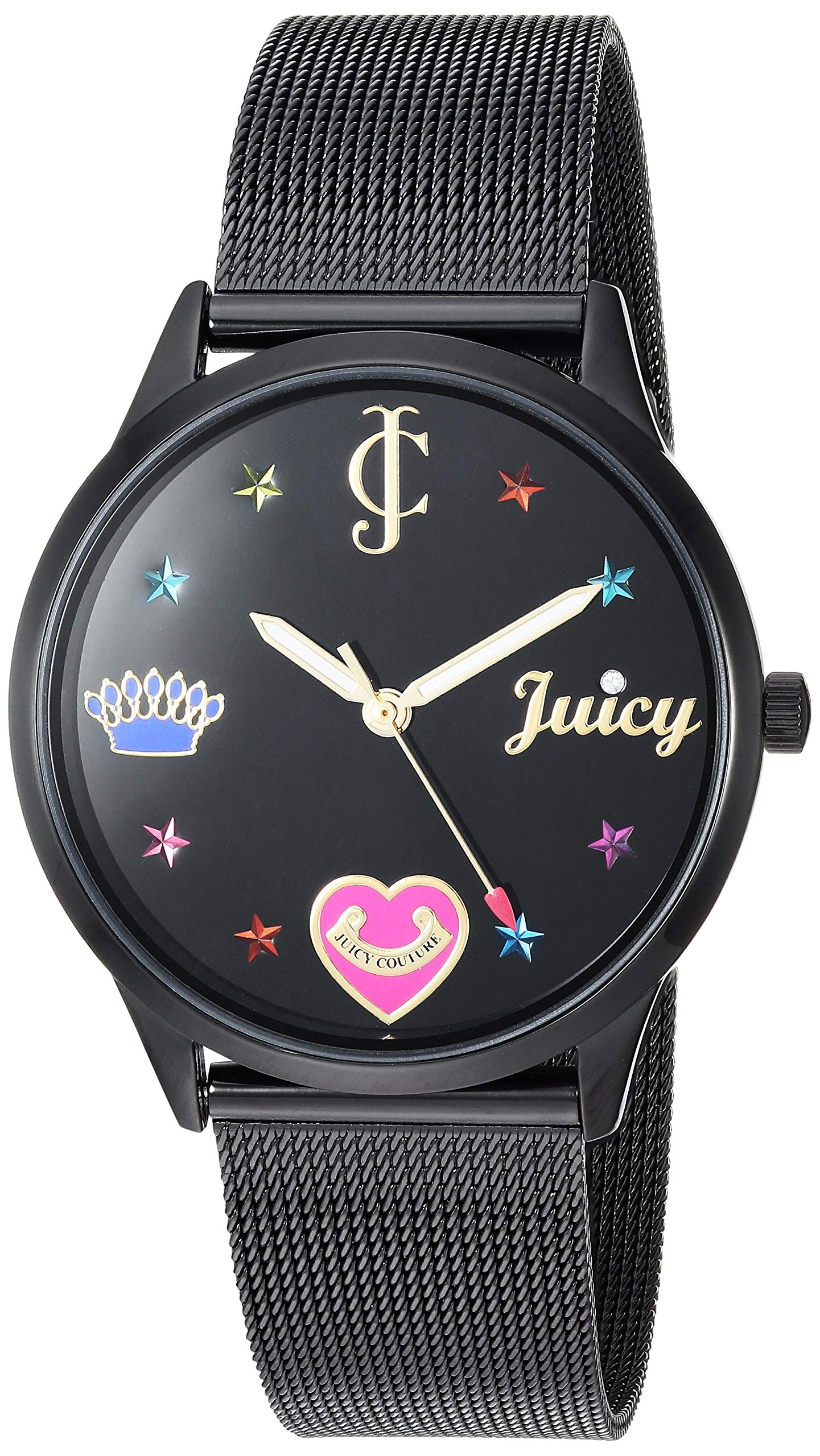 Juicy Couture Black Label Women's  Black Mesh Bracelet Watch