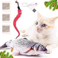 Juguete pez interactivo para gatos - Juguete eléctrico de pez bailarín interactivo flotante flotante con cargador USB…