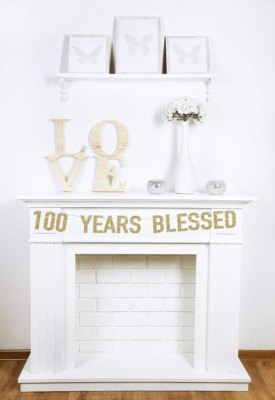 Amazon.com: 100 años de banner 100 cumpleaños 100th ...