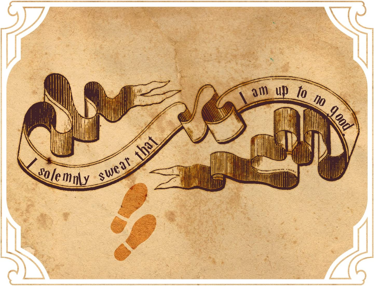 Decal Serpent I Solemnly Swear I Am Up to No Good Footprints Map Sticker 5
