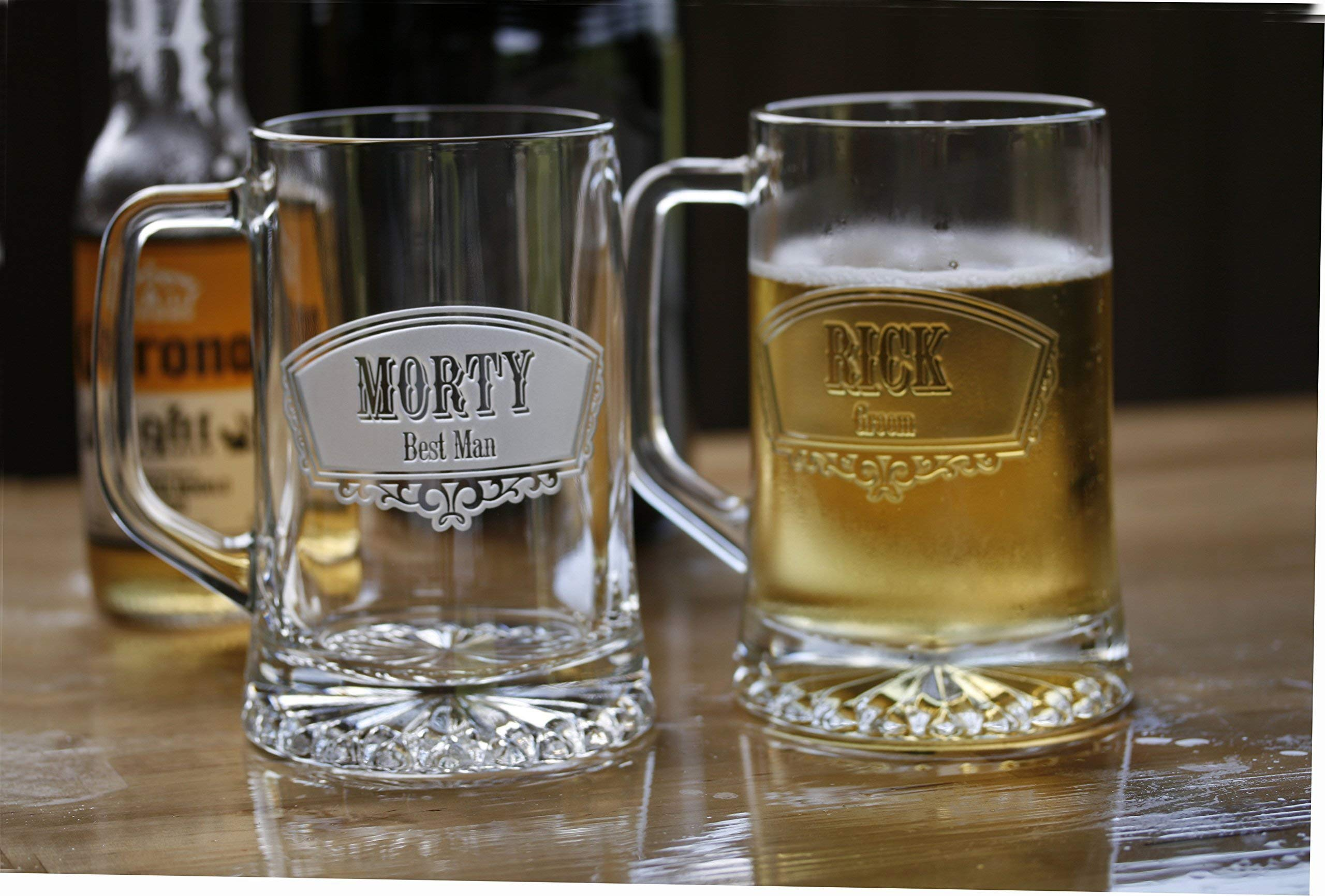 Groomsmen Gift Ideas, Best Man Beer Mugs Set of 5
