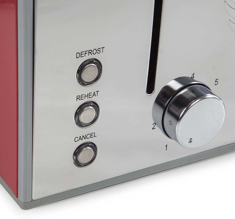 Swan 4-Slice Retro Red Toaster