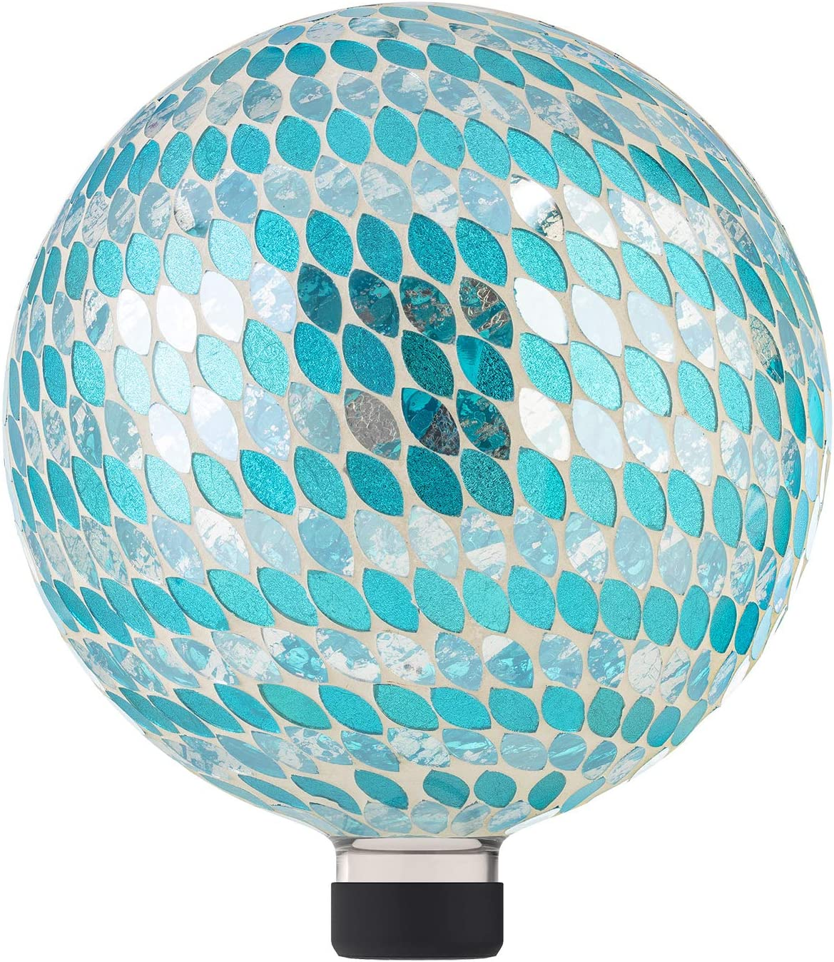 Alpine Corporation HGY428 Alpine Patriotic Stars and Stripes Glass Glazing Globe Gazing Balls, Multicolor
